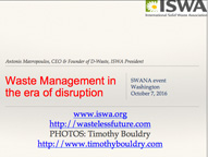 Waste Management in Era of disruption