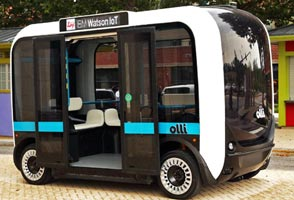 Self-driving & 3D printed bus ready for on-demand services