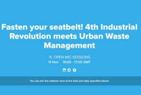 Webinar, 14 November, 16:00 – 17:00 GMT: 4th Industrial Revolution meets Waste Management