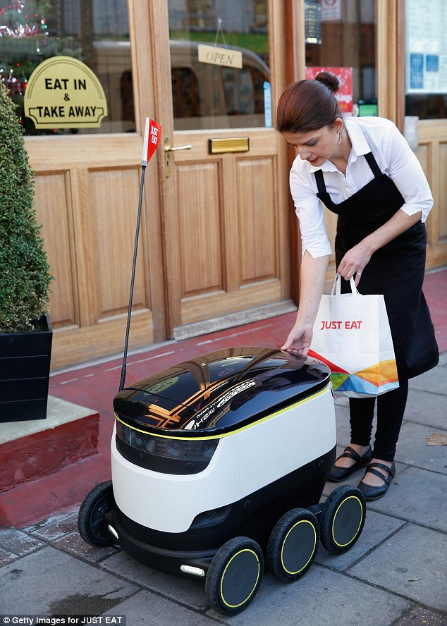 robots, delivery food robots, starship, just eat, wasteless future, recycling, door to door collection, low cost, wasteless future
