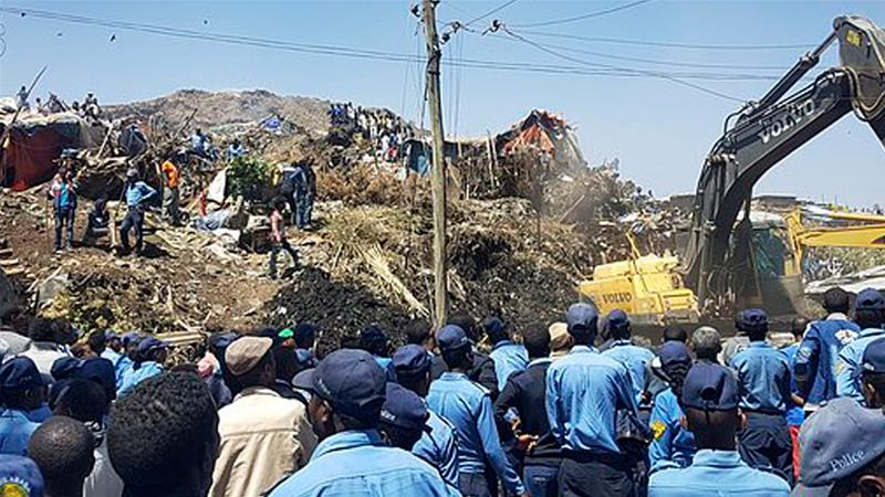 Ethiopia, dumpsite, landslide, Addis Ababa, health emergency, informal recyclers, accident, human losses, garbage, rubbish