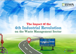 The impact of the 4th industrtial revolution-on waste management sector, ISWA, drones, robots, 3D printers, artificial intelligence, automation, recycling, circular economy, wasteless future