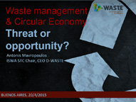 Waste Management & Circular Economy