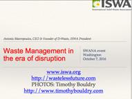 Waste Management in Era of disruption