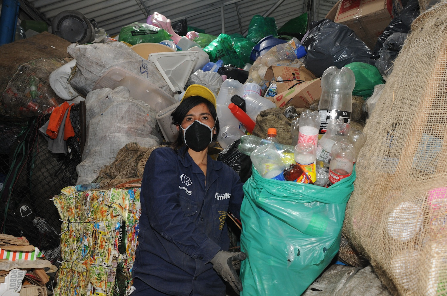 Colombia, Bogota, informal recyclers