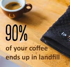 coffee, environment, landfill, compost, wasteless future, waste management, coffee capsules, recycling, circular economy, new materials,